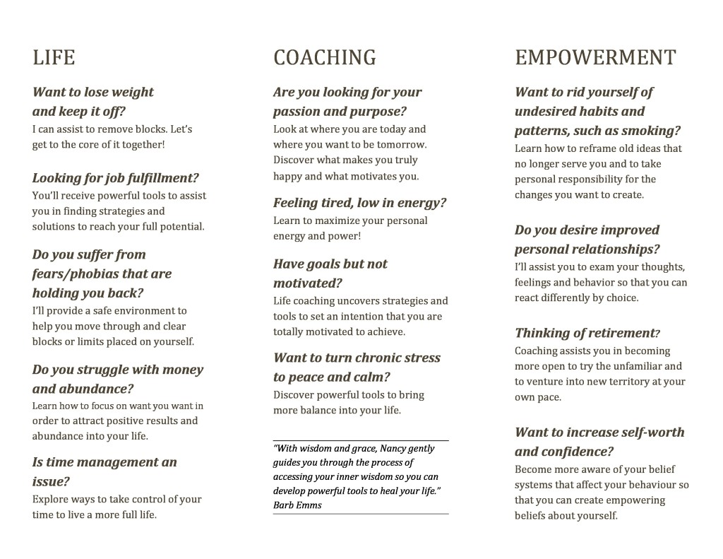 Whole Life Coaching Brochure nancy-page-0